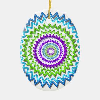CHAKRA WHEEL Round Neon Sparkle Healing Decoration Christmas Ornaments