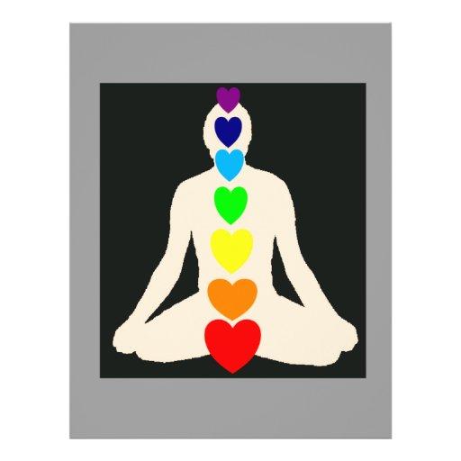 "Chakra Yoga Lotus Position Gifts 8.5"" X 11"" Flyer"