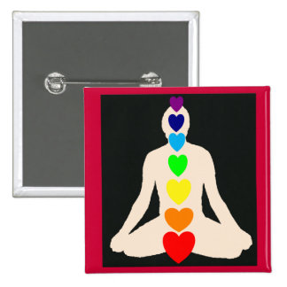 Chakra Yoga Lotus Position Gifts Pinback Button