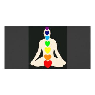 Chakra Yoga Lotus Position Gifts Card