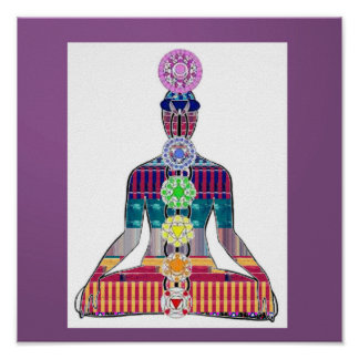 CHAKRA Yoga Meditation Diagram Karma LOVE NVN637 Poster