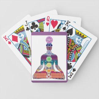 CHAKRA Yoga Meditation Spiritual Healing NVN688 FU Bicycle Playing Cards
