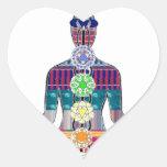 CHAKRA Yoga Meditation Spiritual Healing NVN688 FU Heart Sticker