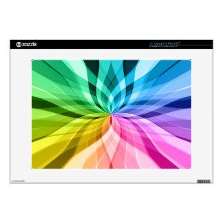 "chakra zen kaleidoskop colorful fun 15"" laptop decal"