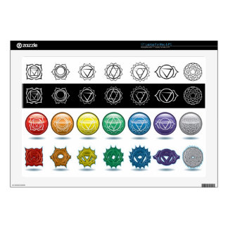 "chakras 17"" laptop decal"