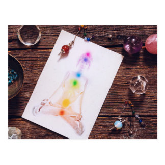 chakras and balance postcard