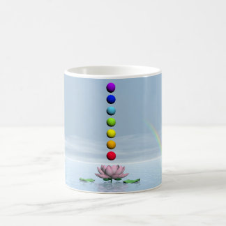 Chakras and rainbow - 3D render Coffee Mug