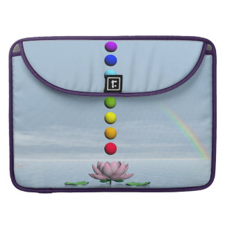 Chakras and rainbow - 3D render Sleeve For MacBooks