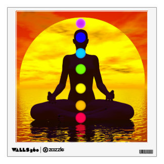 Chakras at sunset - 3D render Wall Sticker