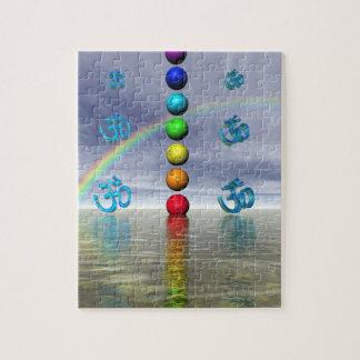 chakras azules puzzle