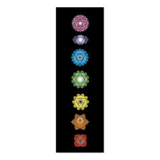 chakras de la yoga tarjetas de visita mini