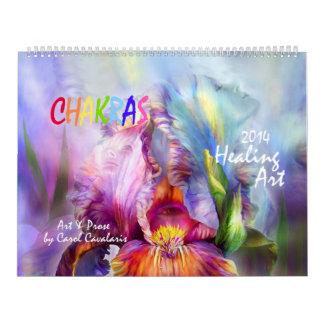 Chakras Healing Art Calendar 2014
