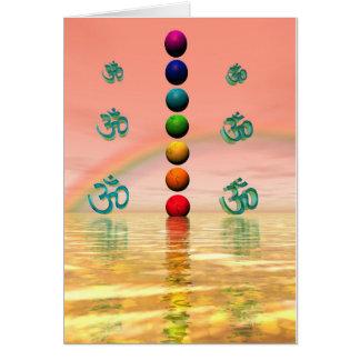 chakras pink card