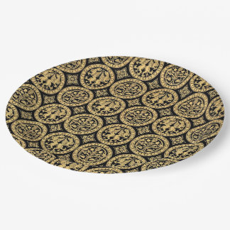 Chalcedonian Black Paper Plate