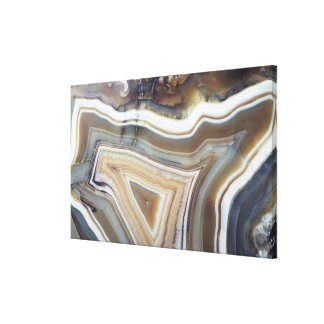 Chalcedony, a variety of Quartz known as Banded Ag Canvas Print