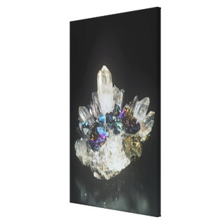 Chalcopyrite on Quartz, Romania Canvas Print