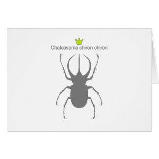 Chalcosoma chiron chiron card