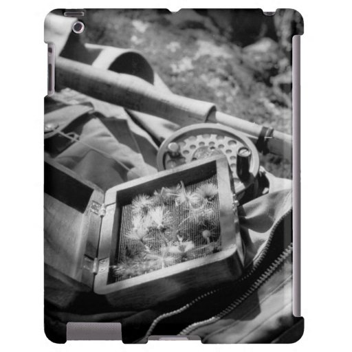 Chaleco blanco y negro de la mosca funda para iPad