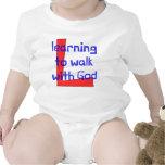 Chaleco cristiano del bebé - aprendiendo caminar trajes de bebé