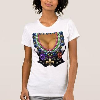Chaleco del carnaval con la camiseta de las gotas playeras
