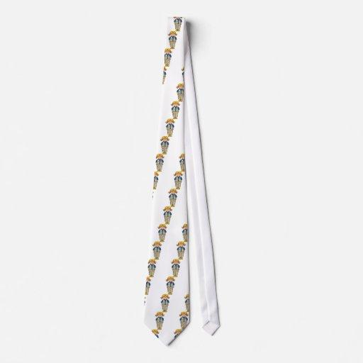 Chaleco   rubio mayor corbatas personalizadas