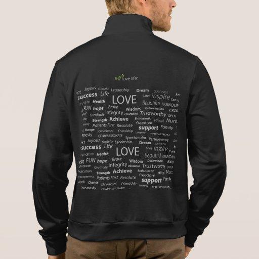 Chaleco salvavidas del amor de los hombres chaqueta