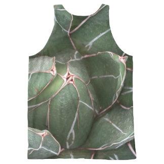 Chaleco unisex de la foto suculenta de la planta playera de tirantes con estampado integral