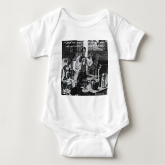 Chales Goodyear Sow & Reap Wisdom Quote Baby Bodysuit