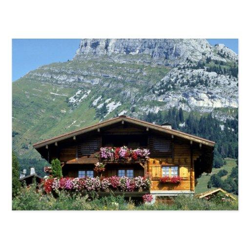 chalet above le grand bornand alps postcard zazzle