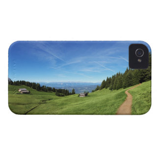 Chalet and pastures in South Tyrol iPhone 4 Case