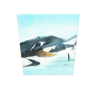 Chalet at the bottom of Schattberg Canvas Print