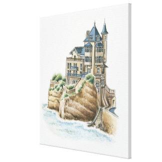 Chalet Belza, Biarritz, Francia Impresión En Lienzo
