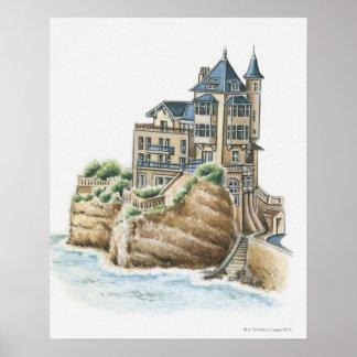 Chalet Belza, Biarritz, Francia Póster