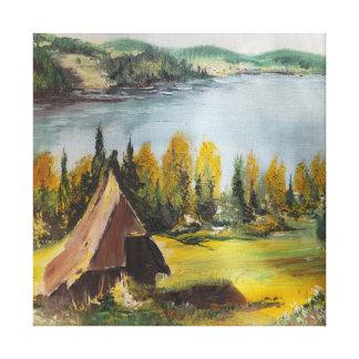 Chalet de la pintura de Ana Hayes de la impresión Lienzo Envuelto Para Galerías