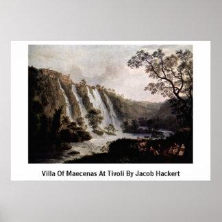 Chalet de Maecenas en Tivoli de Jacob Hackert Poster
