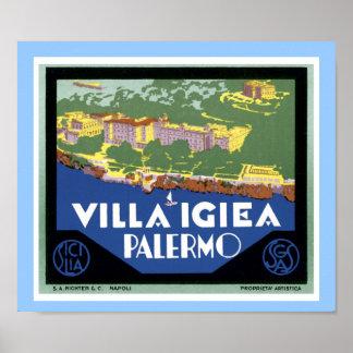 Chalet Igiea Palermo Impresiones