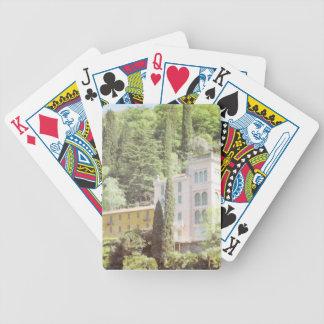 Chalet italiano rosado de la ladera baraja cartas de poker