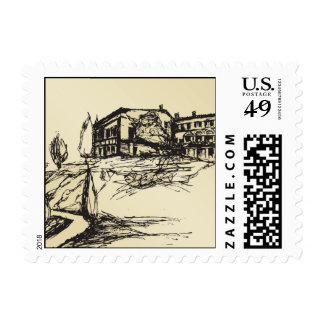 Chalet italiano timbres postales