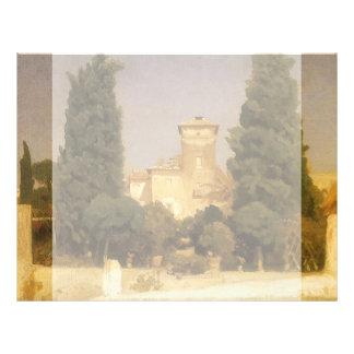 "Chalet Malta, Roma, Leighton, arte del Victorian Folleto 8.5"" X 11"""