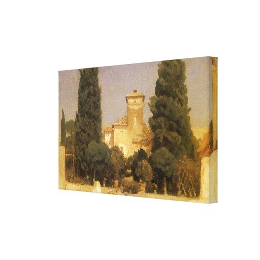 Chalet Malta, Roma, Leighton, arte del Victorian Impresiones En Lienzo Estiradas