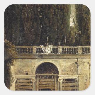 Chalet Medici en Roma de Diego Velázquez Pegatina Cuadrada