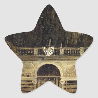 Chalet Medici en Roma de Diego Velázquez Pegatina En Forma De Estrella