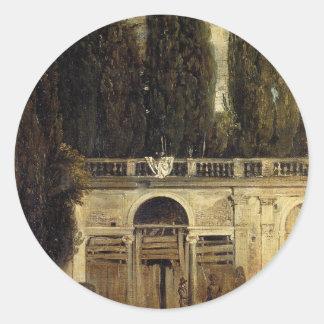 Chalet Medici en Roma de Diego Velázquez Pegatina Redonda