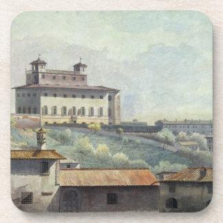 Chalet Medici, Roma, c.1776 (aceite en el papel) Posavasos De Bebida