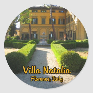 Chalet Natalia Florencia Italia Etiquetas Redondas