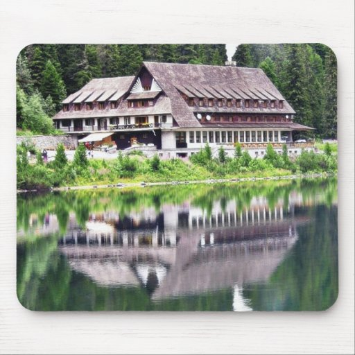 Chalet On Bank Of Poprad Tarn. Nice Reflection In Mouse Pad