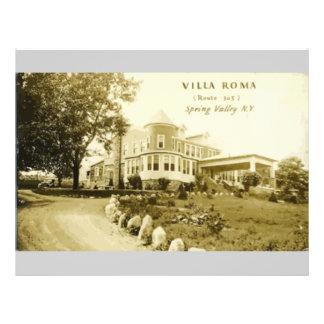 "Chalet Roma (ruta 305) Spring Valley N.Y., vintage Folleto 8.5"" X 11"""