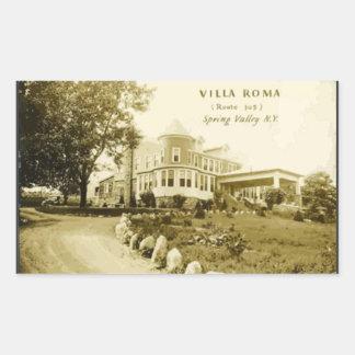 Chalet Roma (ruta 305) Spring Valley N.Y., vintage Pegatina Rectangular