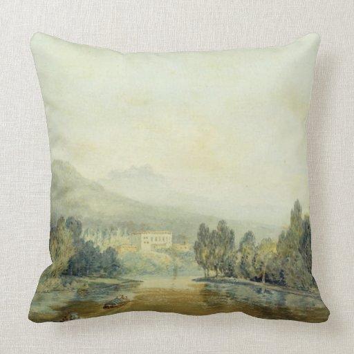 Chalet Salviati en el Arno, c.1796-97 (w/c en penc Cojin
