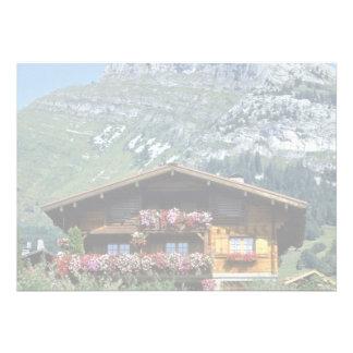Chalet sobre Le Grand Bornand, montañas francesas, Invitacion Personalizada